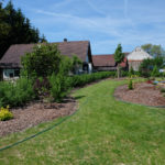 Zahrada - první jaro po realizaci
