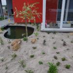 Trvalková výsadba zamulčovaná pískem